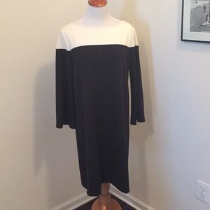 NWT Gap 3/4 sleeve colorblock shift dress